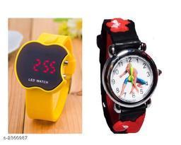 Trendy Rubber Digital Kid's Watch ( Pack Of 2 )