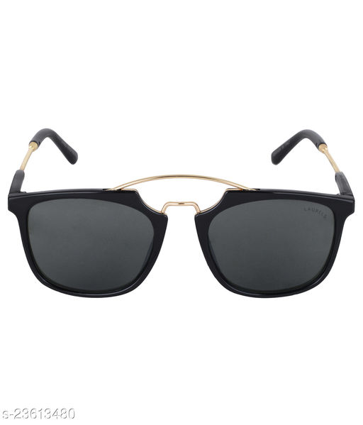 Laurels Maestro II Series Black Rectangular Shape Men Sunglass