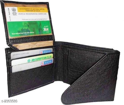 Sleek Men's Leatherette Wallet