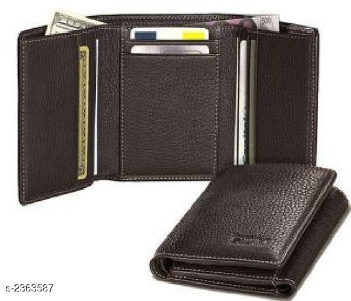 Stylish Men's Brown Leather Wallet