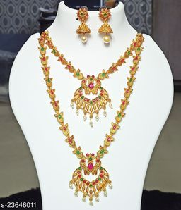 COMBO BRIDAL SET MATTE GOLD-PLATED FOR WOMEN