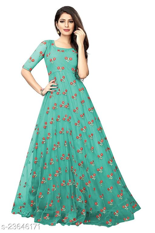 latest gown with beautyful embroidery work