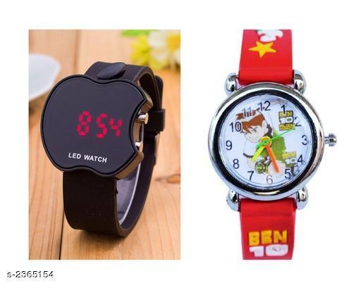 Trendy Rubber Digital Kid's Watches Combo
