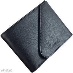 Trendy Men's Leatherette Wallet