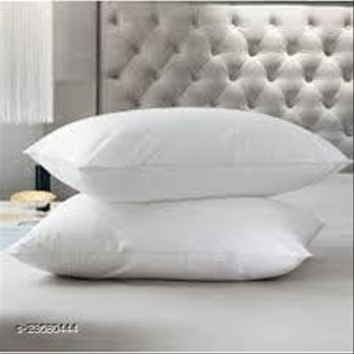 TANIQ White Fibre Vaccum Press Luxury Pillow (Pack Of 1)