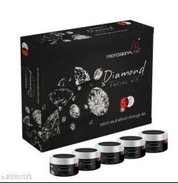 Professional DIAMOND Facial Kit, All Skin Type, Mens & Women (5 Step - 250 gm)
