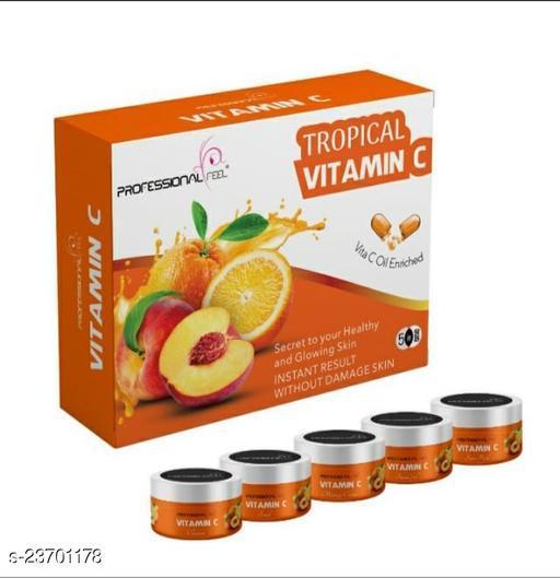 Professional VITAMIN-C Facial Kit, All Skin Type, Mens & Women (5 Step - 250 gm)
