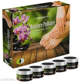 Professional MANICURE-PEDICURE Facial Kit, All Skin Type, Mens & Women (5 Step - 250 gm)