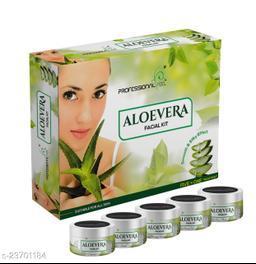 Professional ALOEVERA Facial Kit, All Skin Type, Mens & Women (5 Step - 250 gm)