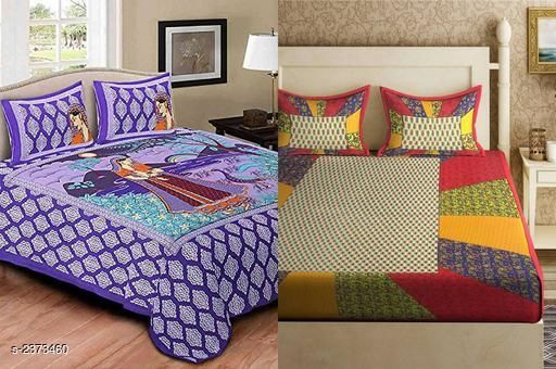 Heritage Cotton Printed Double Bedsheets Combo