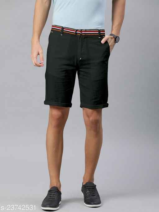 Mens Premium Quality 1oo% Cotton Shorts With Belt