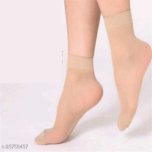 Girls Solid Ankle Length  (Pack of 6)