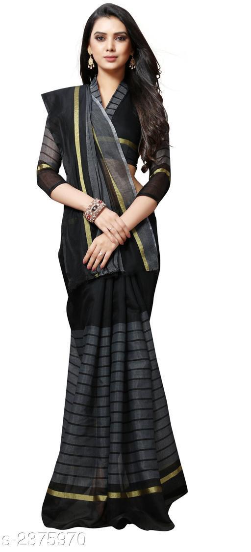 Fashion Poly Cotton Women's Saree