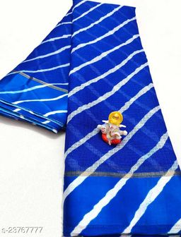 New Fashionable Kota Doria Soft Cotton Lehariya Saree