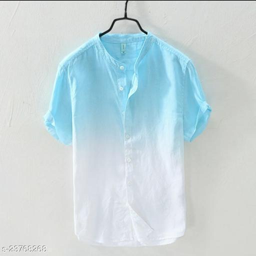 Bindani studio Cotton blaen Urban Shirt for Men