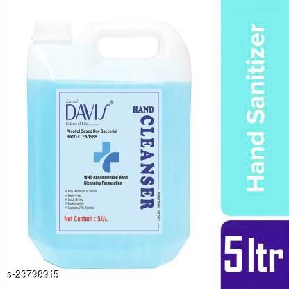 5 ltr Kill 99.99% Germs with 70 percent alcohol Hand Sanitizer Can  (5 L)