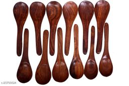 Wooden Table Spoon Masala Spoon Tea shuger Set of 12