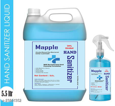Mapple hand sanitizer with 70 % alcohol 5500 ml with spray pump
