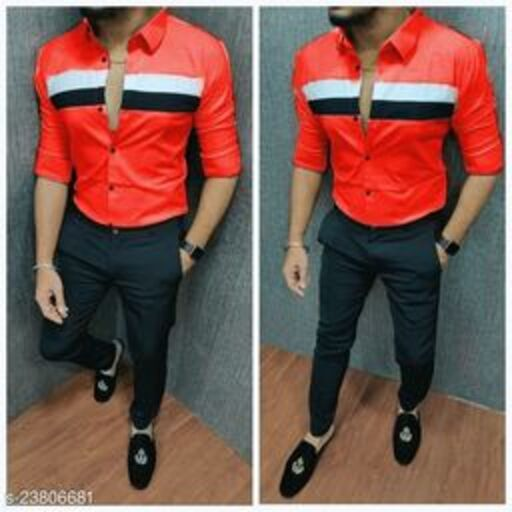 CASUAL SHIRT FOR MEN RED