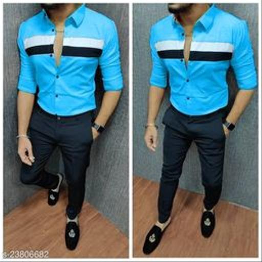 CASUAL SHIRT FOR MEN BLUE