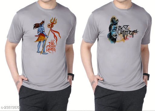 POLLY Polyester Printed T shirt (Pack of 2)