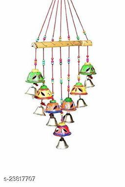 Gorgeously Designed Multicolor Bells Home Decoration Wall Hanging Wind Chime Bells for Temple, Entrance, Festivals II Decorative Showpiece/Wall Hanging/Home Furnishing/Diwali Gift/Corporate Gift