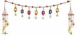 Rajasthani Traditional Multicolor Toran Bandarwal with Bells Door Hanging for Home Decor(350g) II Balcony/Garden/Window Bandarwal Decor II Entrance Door II Religious Festive Purpose