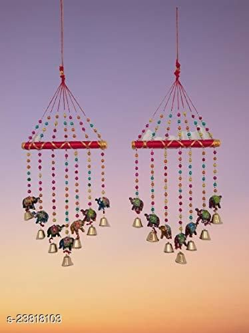 Decorative Multicolor Elephant Door Hanging & Attractive Gorgeously Designed Elephant Multicolor Wind Chime for Window/Door Hanging II Home Decor- Garden/Window Décor