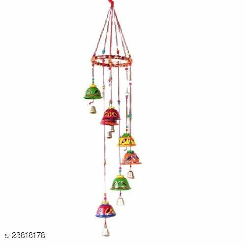 Indian Rajasthani Handmade Traditional Art Home Decoration Wall Hanging Wind Chime Bells,Wood