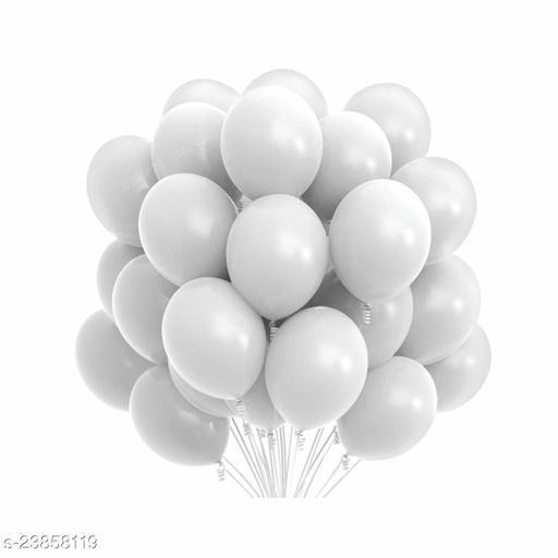 White Latex Balloons Set Of 50