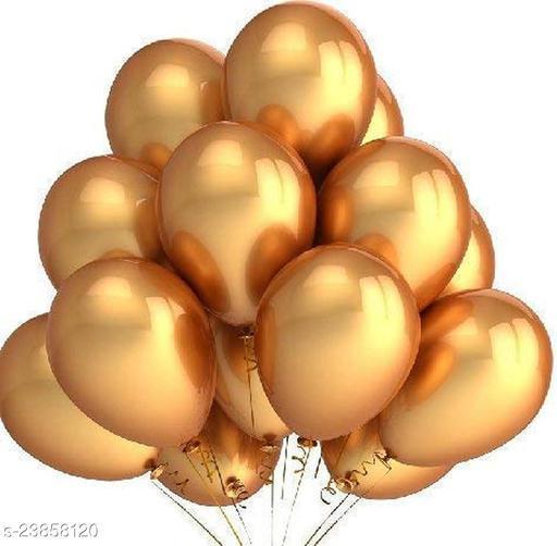 Golden Latex Balloons Set Of 50