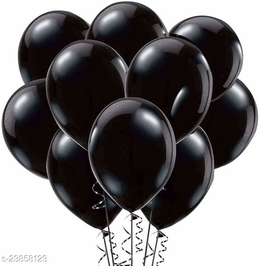 Black Latex Balloons Set Of 50