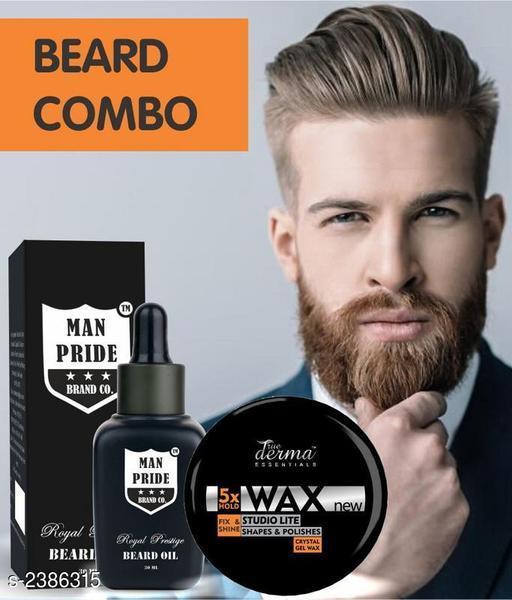 True Derma Essentials 5X Hold Hair Wax & Beard Oil
