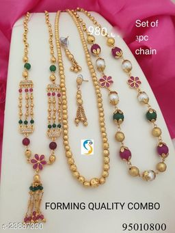 New Micro Gold Plated Necklace (Combo)