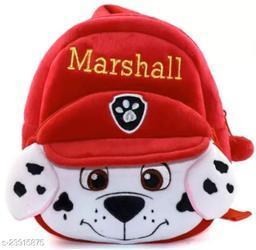 Krently Marshall Soft Velvet Kids School/Nursery/Picnic/Carry/Travelling Bag - 2 to 5 Age Waterproof Backpack (Multi, 18 L)