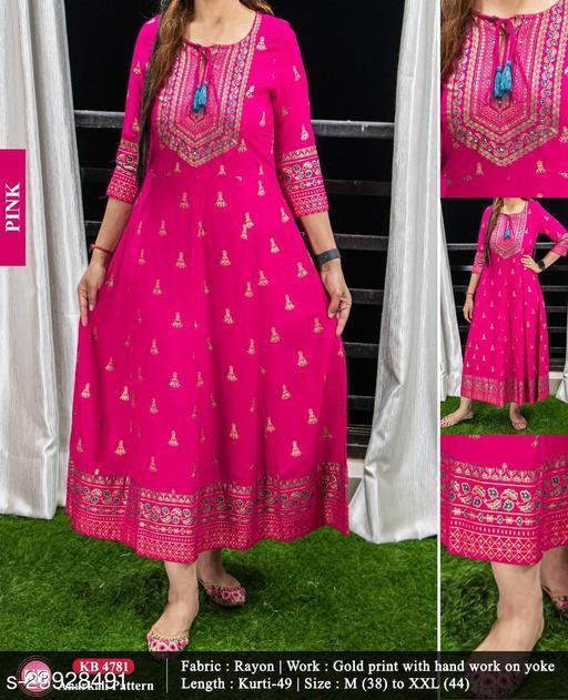 Anivinda Women Anarkali Gown