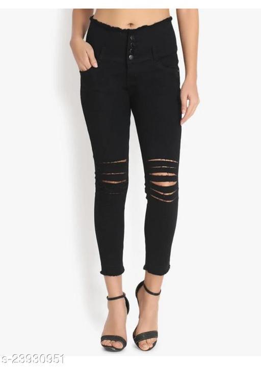 Comfy Stylish Women's Efficient Denim Solid Jeans