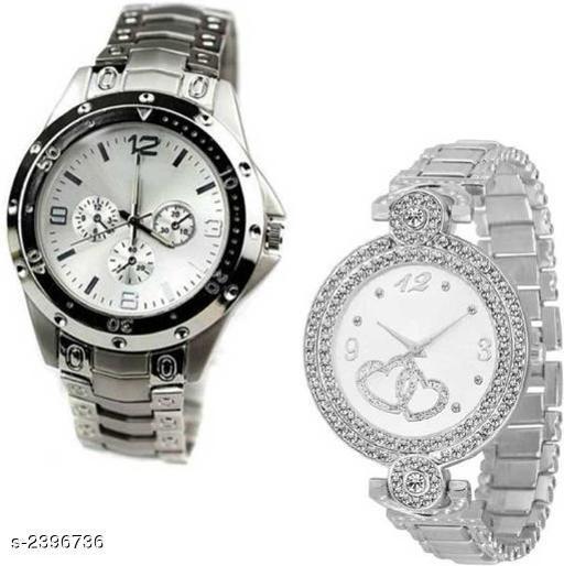Beautiful Analog Couple Watches Combo
