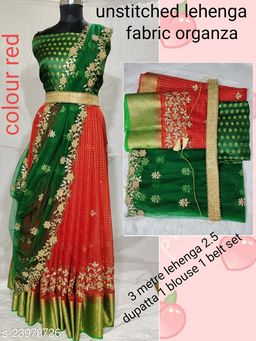 Trendy south style traditional  women new arrival lehenga(Un Stiched)