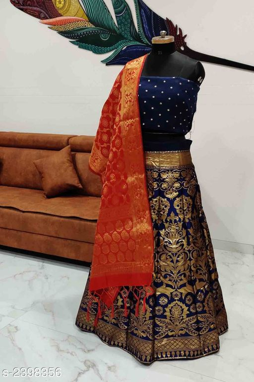 Voguish Elegant Taffeta Silk Embroidered Lehenga