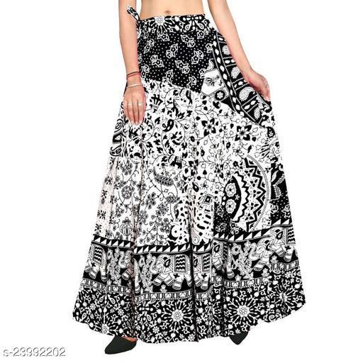 Summer Flared Trendy Wrap Around Cotton Skirts