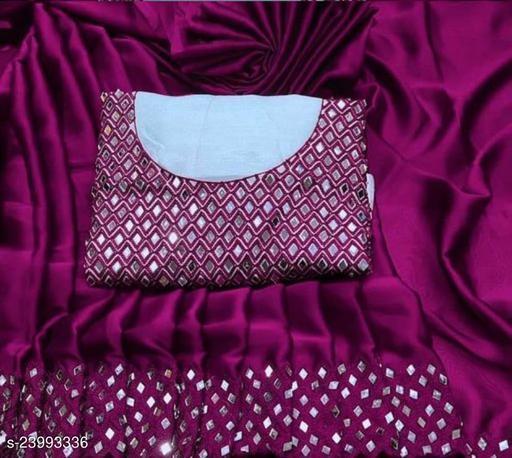 Trendy Vichitra Silk Saree
