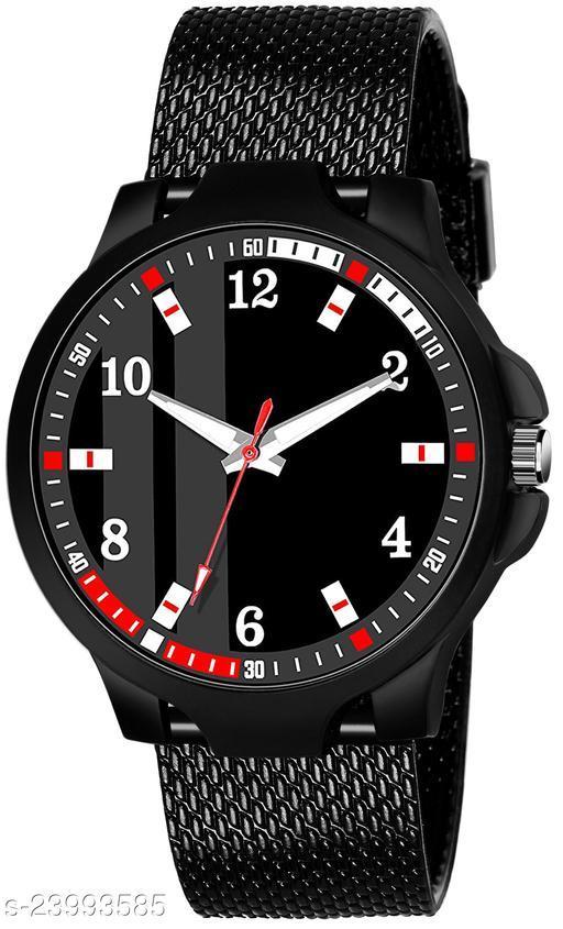 KJR_498 King Black Stylish Design Combo Analog Watch For Men