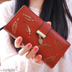 Attractive Women's Red Faux Leather/Leatherette Wallet