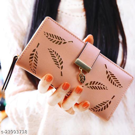 Beautiful Women's Cream Leather Wallet