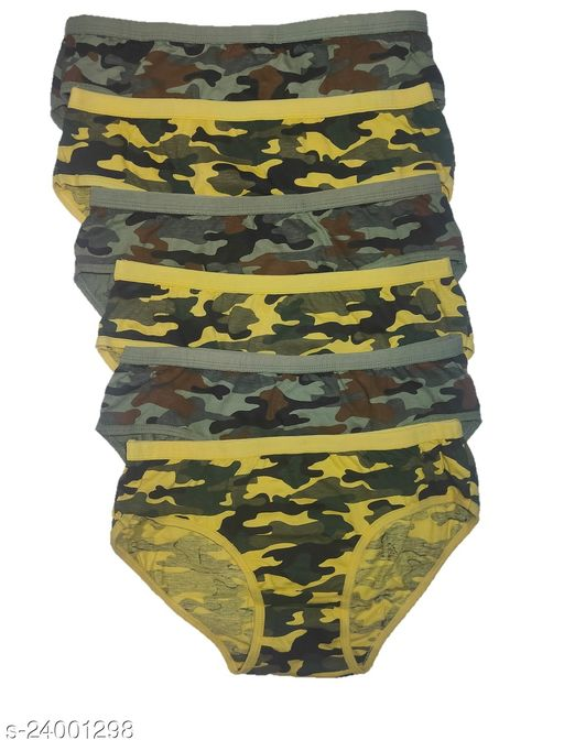 Women Hipster Yellow Hosiery Panty (Pack of 6)