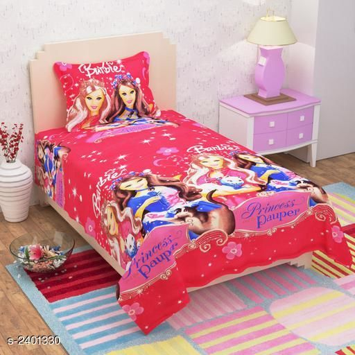 Comfortable Poly Cotton Printed Single Bedsheet