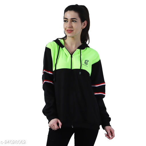 Chanda Khuba Women's Sweatshirt Full Sleeve Kangaroo Pocket Pullover hoodies With Zip - CKHD-G-05