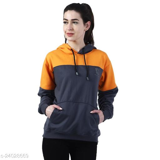 Chanda Khuba Women's Sweatshirt Full Sleeve Kangaroo Pocket Pullover hoodies - CKHD-G-01