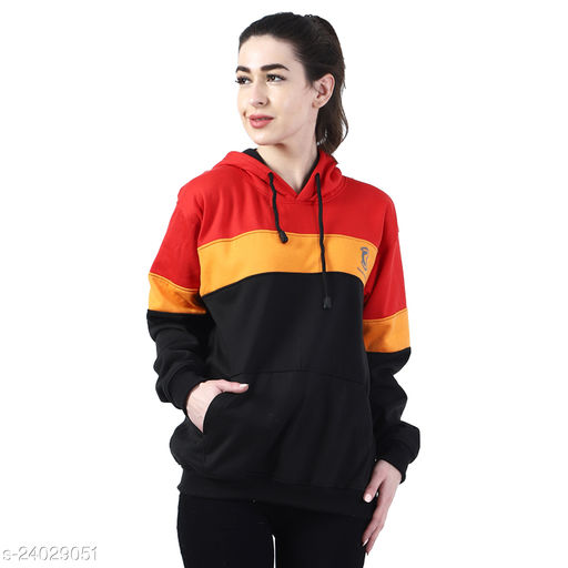 Chanda Khuba Women's Sweatshirt Full Sleeve Kangaroo Pocket Pullover hoodies - CKHD-G-02